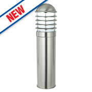 Saxby Louvre 60W Polished Stainless Steel Post Light