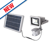 LAP LED Solar Floodlight with PIR Silver