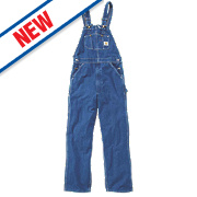 "Carhartt Washed Denim Overall Dark Stone 36"" W 32"" L"