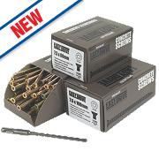 Easydrive Concrete Screws Trade Pack 300 Piece Set