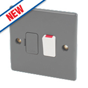 Schneider Ultimate 13A Switched Fused Connection Unit Grey