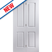 Jeld-Wen Oakfield 4-Panel Interior Bi-Fold Door Primed 1950 x 595mm