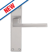 Serozzetta Zone LoB Latch Door Handles Pair Satin Chrome