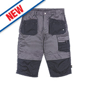 "Hyena Brecon Pirate Shorts Grey/Black 38"" W"