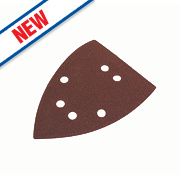 Flexovit Corner Sanding Triangles Punched 145mm 80 Grit Pack of 6