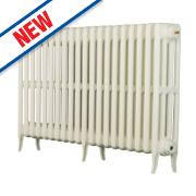 Arroll Neo Classic 4-Column Cast Iron Radiator White 660 x 1200mm