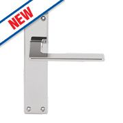 Serozzetta Zone LoB Latch Door Handles Pair Polished Chrome