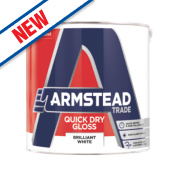 Armstead Trade Quick Drying Gloss Paint Pure Brilliant White 2.5Ltr