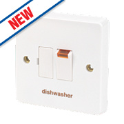 Crabtree 13A Switched Fused Connection Unit & Neon - Dishwasher White Pack of 10