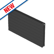 Moretti Modena Double Panel Horizontal Radiator Charcoal 578 x 1200mm