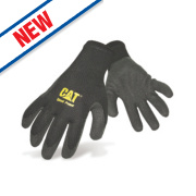 Cat 17400 Latex Palm Gripster Gloves Black Medium