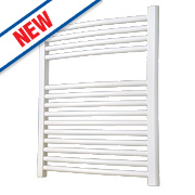 Flomasta Curved Ladder Towel Radiator White 700 x 600mm 372W 1269Btu