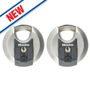 Master Lock Excell Keyed Alike Disc Padlocks 70mm