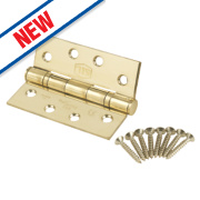 Smith and Locke Grade 13 Ball Bearing Hinges Stainless Brass 102 x 76mm Pk2