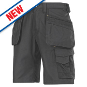 "Snickers Craftsmen 3014 Multi-Pocket Shorts Black 33"" W"
