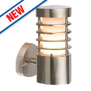 Saxby Bliss Brushed Stainless Steel Wall Light 11W