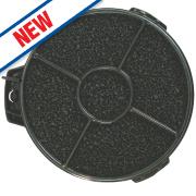 Cooker Hood Filter Black 135mm Pack of 2