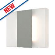 Robo Matt Grey LED Wall Light 2 x 3W