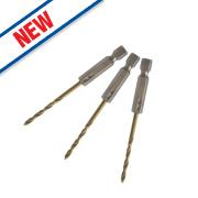 Erbauer Quick-Change HSS Drill Bit 3mm