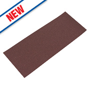 Flexovit Sanding Sheets Aluminium Oxide 185 x 93mm 80 Grit Pack of 5