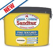 Sandtex Fine Textured Masonry Paint Magnolia 10Ltr