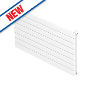 Moretti Modena Single Panel Horizontal Designer Radiator White 578x600mm
