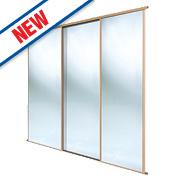 Spacepro 3 Door Framed Sliding Wardrobe Mirror Doors 2236 x 2260mm