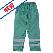 "Site Waterproof Overtrousers Green Medium 33-34"" W"