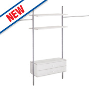 Spacepro Door Wardrobe Storage System 2360-3560 x 2700mm