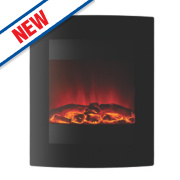 Focal Point Ebony Black Remote Control Electric Wall-Mounted Fire