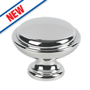 Fingertip Design Shaker Cabinet Door Knob Polished Chrome 35mm