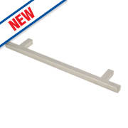 Square T Bar Handle Satin Nickel 160mm