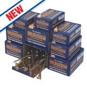 Goldscrew Plus Woodscrews Trade Pack Double-Self-Countersunk Pack of 1400