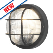 50165 LED Bulkhead Wall Light Black 60W
