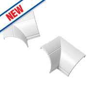 Clip-Over Internal Bend 22 x 22mm White Pack of 2