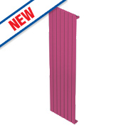 Moretti Modena Single Panel Vertical Radiator Magenta 1800x433mm