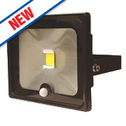 LAP Slimline LED Floodlight 30W PIR Black