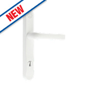 Mila High Security Type A Door Handle Pack Powder-Coated White