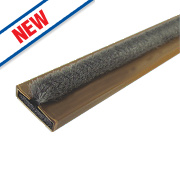 Firestop Intumescent Fire & Smoke Door Seal Brown 10 x 4 x 2100mm Pack of 10