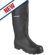 Dunlop Universal Non-Safety Wellington Boots Black Size 11