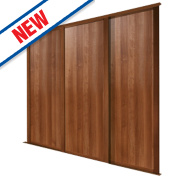 Spacepro 3 Door Panel Sliding Wardrobe Doors Walnut 2236 x 2260mm