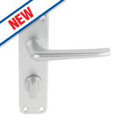 Smith & Locke 2000 Series WC Door Handle Set Pair Satin Aluminium