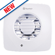 Xpelair DX100BTS W Simply Silent Bathroom Extractor Fan with Timer