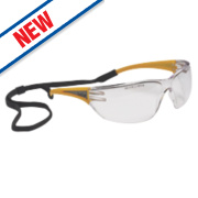 Bolle Slam Clear Lens Hi-Vis Temple Safety Specs