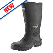 JCB Hydromaster Safety Wellington Boots Black Size 9