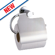 Swirl Covered Toilet Roll Holder Chrome