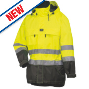 Helly Hansen Hi-Vis Parka Jacket Yellow/Charcoal Large 42½