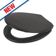 Swirl Quick-Release Toilet Seat Polypropylene Black