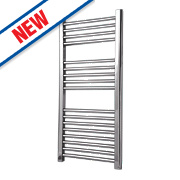 Flomasta Flat Towel Radiator Chrome 900 x 450mm 230W 784Btu
