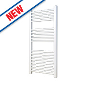 Flomasta Flat Ladder Towel Radiator White 900 x 450mm 354W 1208Btu